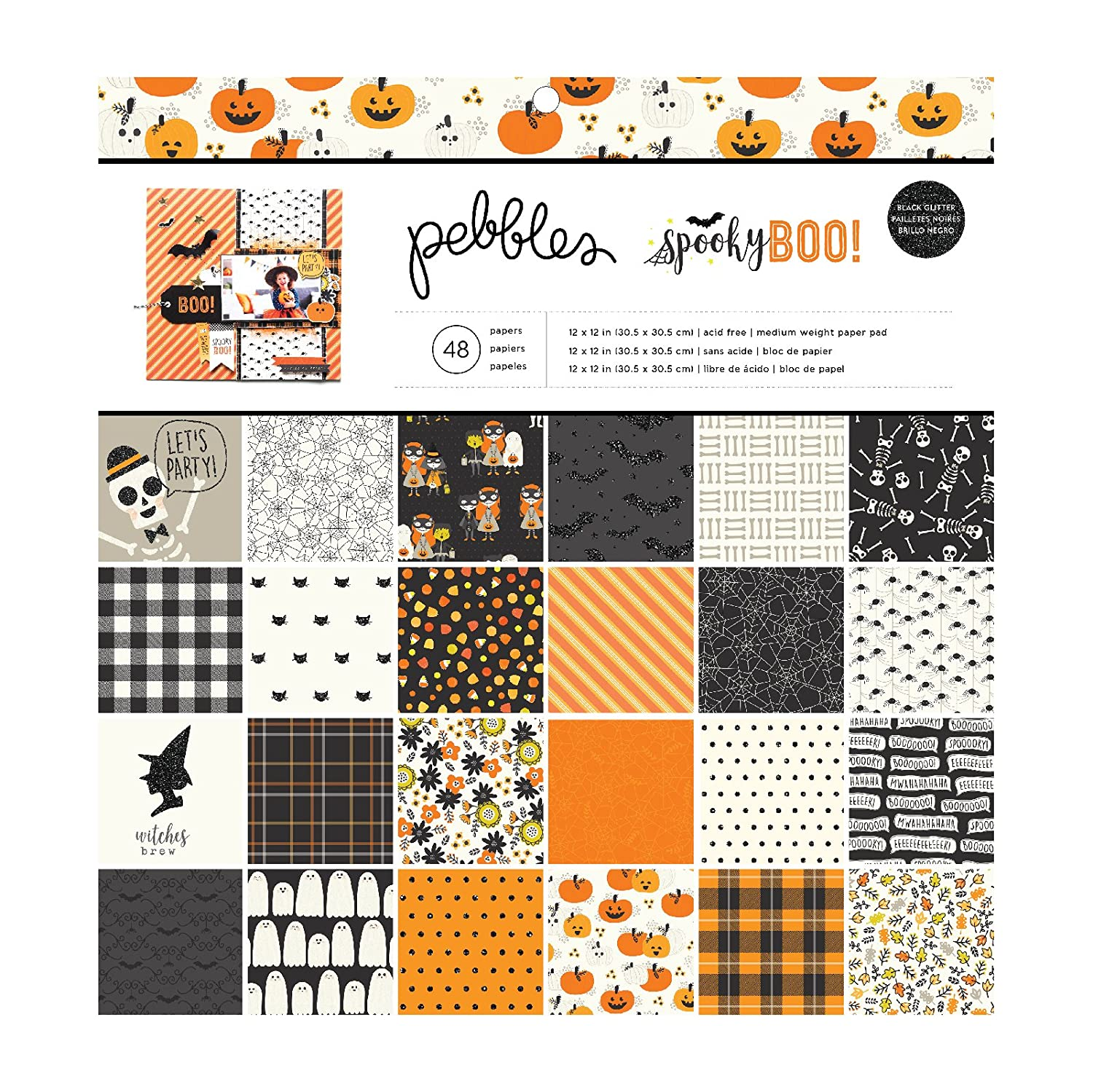 Spooky Boo Paper Pad Halloween Crafts Crafting
