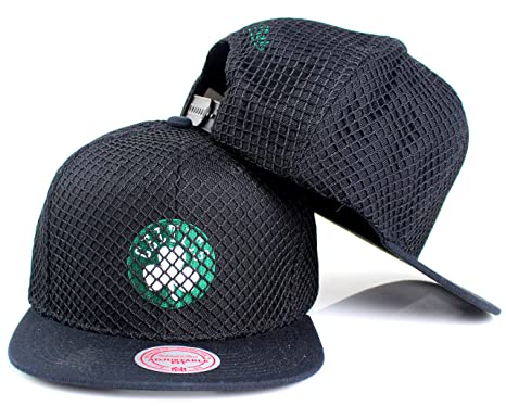 83bbb337d1b Image Unavailable. Image not available for. Color  Mitchell   Ness Boston  Celtics NBA Champion Net Snapback Hat Black