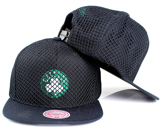 94f93f99 Image Unavailable. Image not available for. Color: Mitchell & Ness Boston  Celtics NBA Champion Net Snapback Hat Black