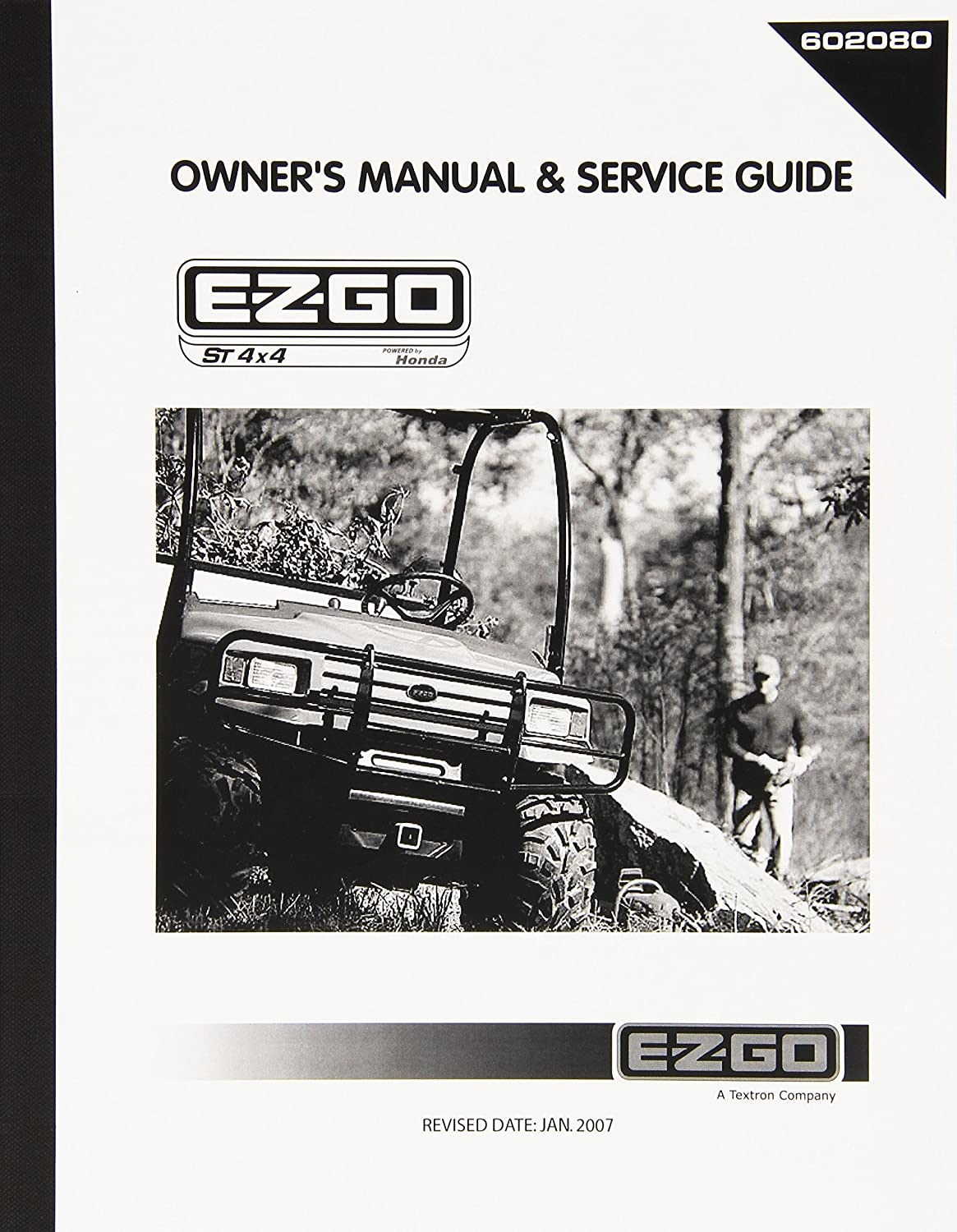 Amazon.com : EZGO 602080 2005 Owners Manual and Service Guide for Gasoline  Powered Utility Vehicle : Outdoor Decorative Fences : Garden & Outdoor