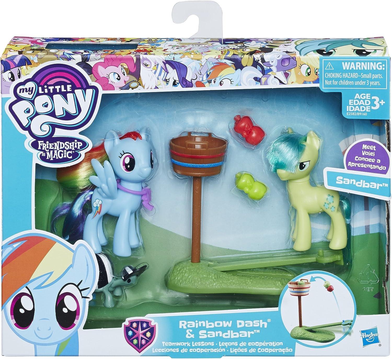 My Little Pony Rainbow Dash & Sandbar Teamwork Lesson: Amazon.es ...