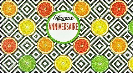 afie 69 - 4209 tarjeta feliz cumpleaños purpurina cítricos ...
