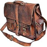 """Jaald 16"""" Genuine Leather Messenger Bag shoulder bag Satchel Briefcase gift men"""