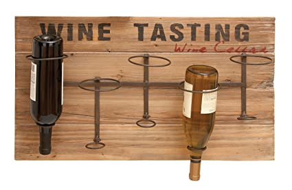 Wine Tasting Upside Down 5 Bottle Wine Wall Décor