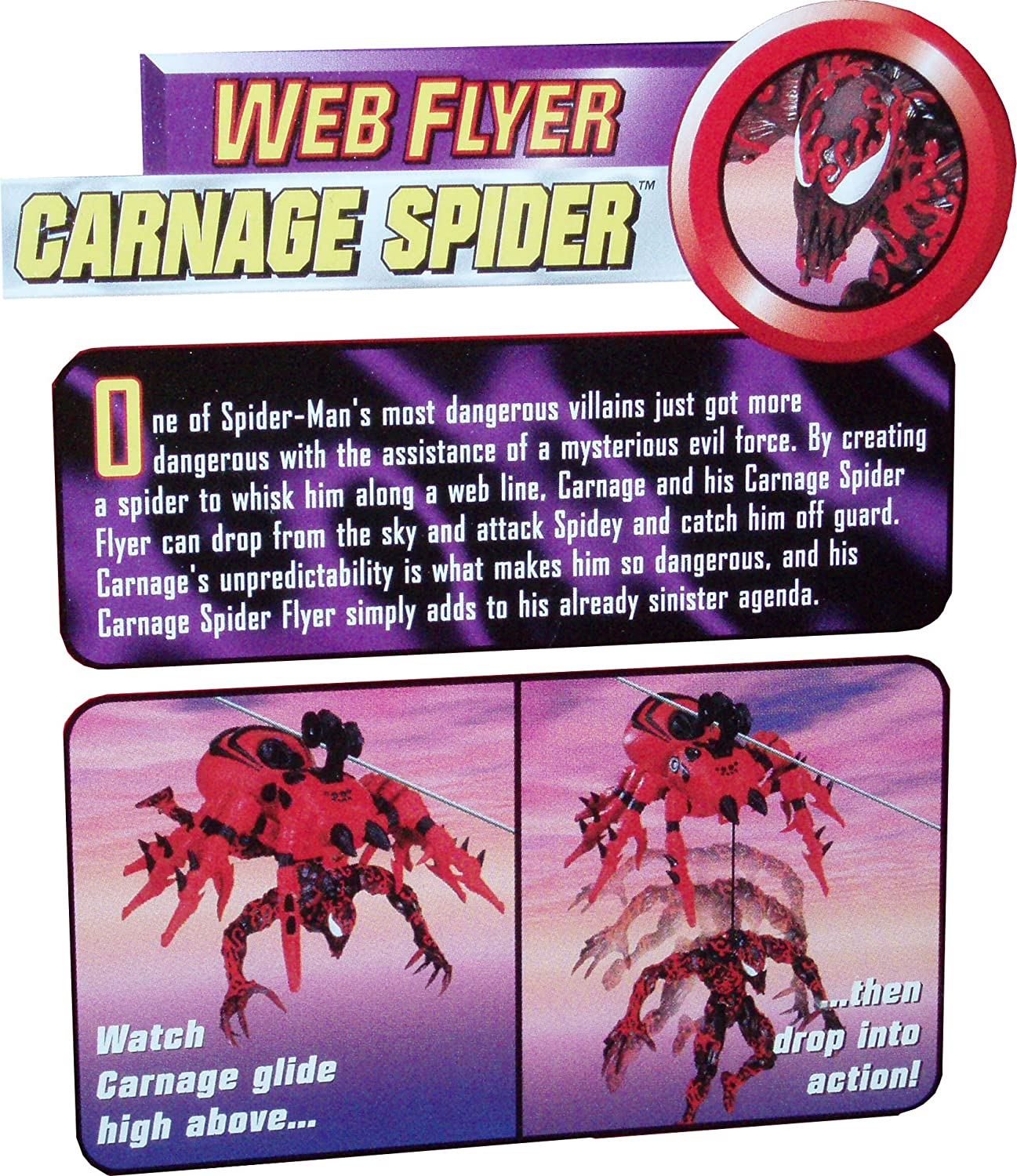 Spider-Man Sneak Attack: Web Flyers: Carnage Spider con Carnage Flyer Plus Sneak Attack: Amazon.es: Juguetes y juegos