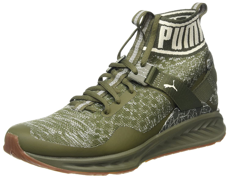Puma Ignite Evoknit Hypernature, Zapatillas de Deporte para Exterior para Hombre 42 EU|Verde (Olive Night-birch- White)