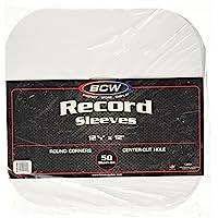 BCW 33 RPM Round Corner Paper Record Sleeves