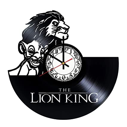 Amazon Lion King Mufasa Simba Art Vinyl Wall Clock Unique Home