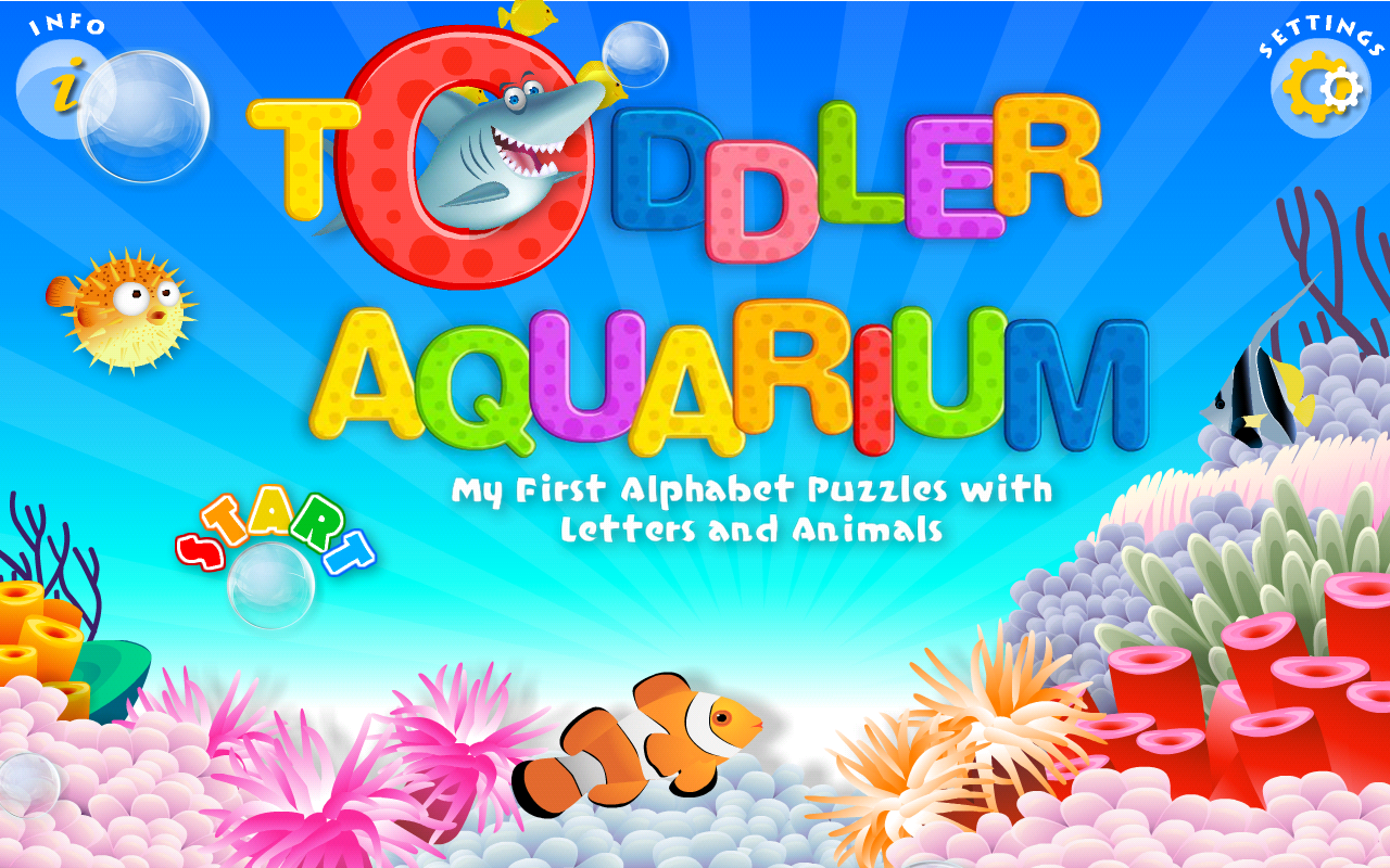 amazon com preschool educational games abc alphabet aquarium