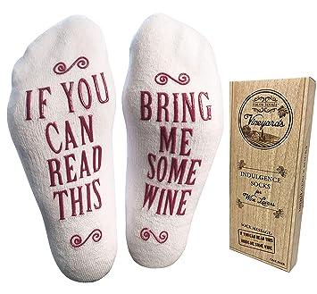 Haute Soiree algodón Peinado de Lujo tráeme un Poco de Vino Calcetines: Amazon.es: Juguetes y juegos