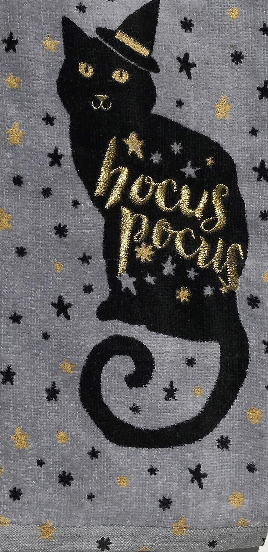 Halloween 2-Pack Black Cat Cotton Kitchen Dish Towels Hocus Pocus Celebrate Halloween Together 73CTLHDKT08