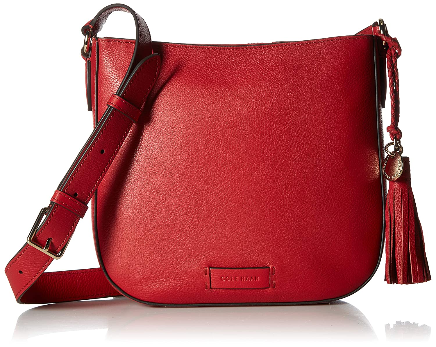 d5d4740bf3 Cole Haan Piper Saddle Crossbody, barbados cherry: Handbags: Amazon.com
