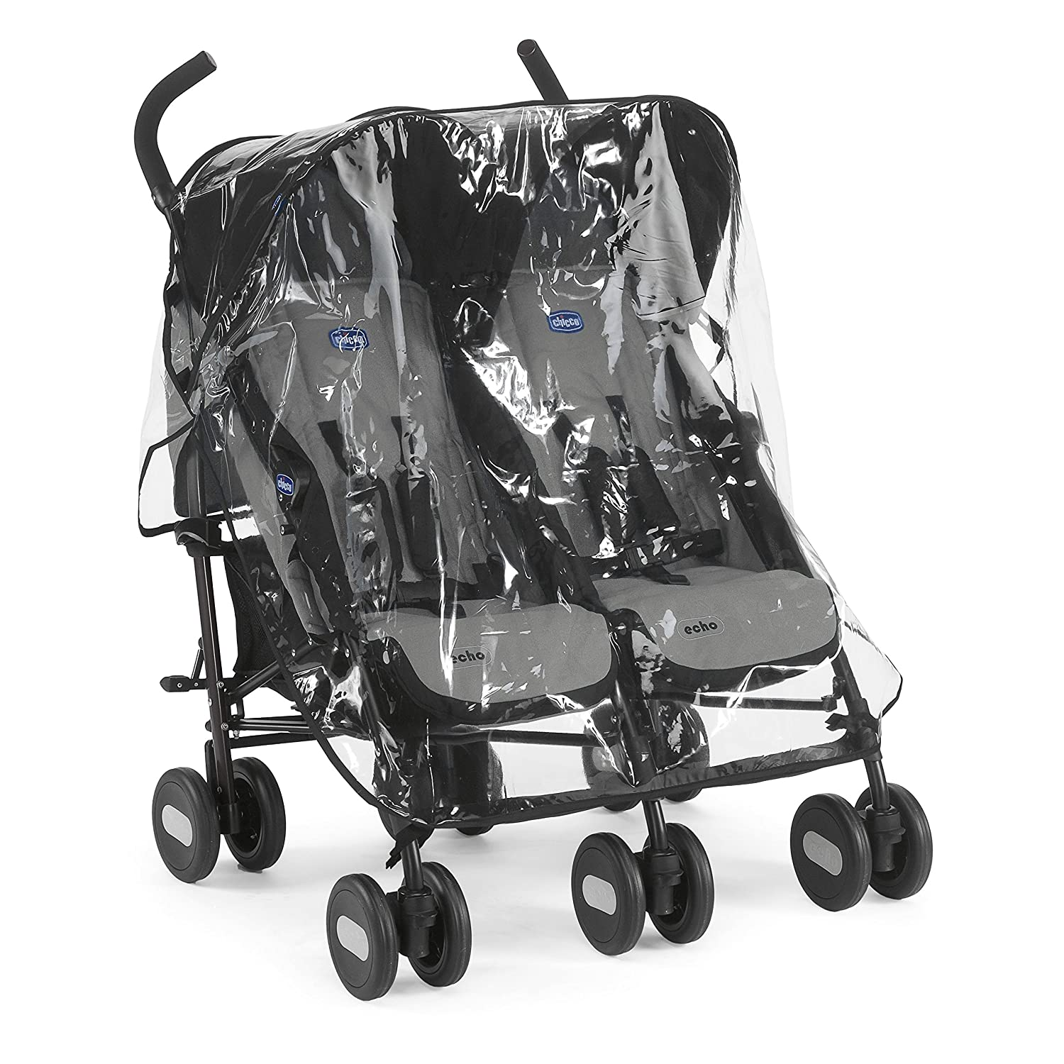 Chicco Echo Twin Stroller Coal - Black 06079311220930