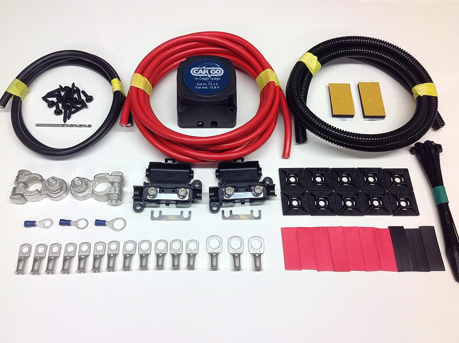 9MTR PROFESSIONAL CARGO SPLIT CHARGE KIT 12V 140A AMP RELAY 110AMP CABLE SCKC319 Simply Split Charge