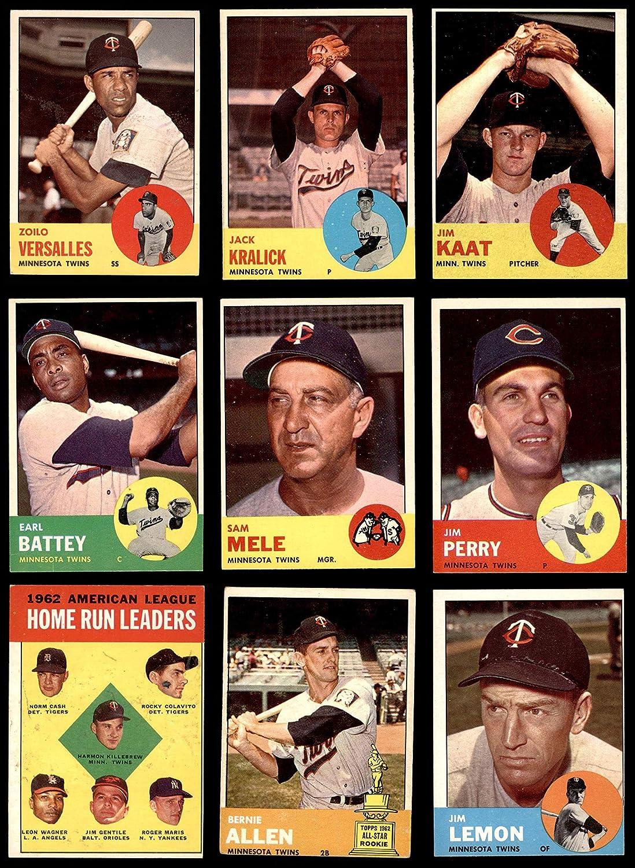1963 Topps Minnesota Twins Team Satz Minnesota Twins (Baseball Set) Dean'S Cards 4 - Vg/Ex Twins