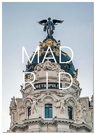 Panorama® Cuadro Cartón Pluma Ciudad de Madrid 50 x 70 cm | Impreso en Cartón Pluma Cuadros Decoración Salón | Cuadros para Dormitorio | Láminas Decorativas ...