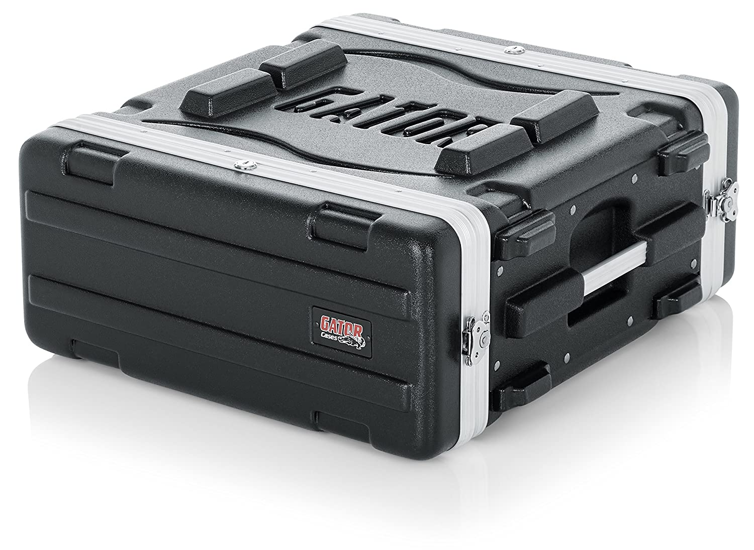 Gator Molded PE 2U 19.25 inch Deep Rack Case with Front / Rear Rails and Locking GR-2L GR2 GR2L Musical Instrument Accessories Portable_Electronics abs polyethylene
