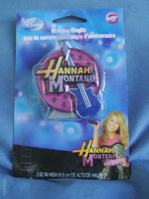 Amazon.com: Disney Hannah Montana Vela de cumpleaños ...