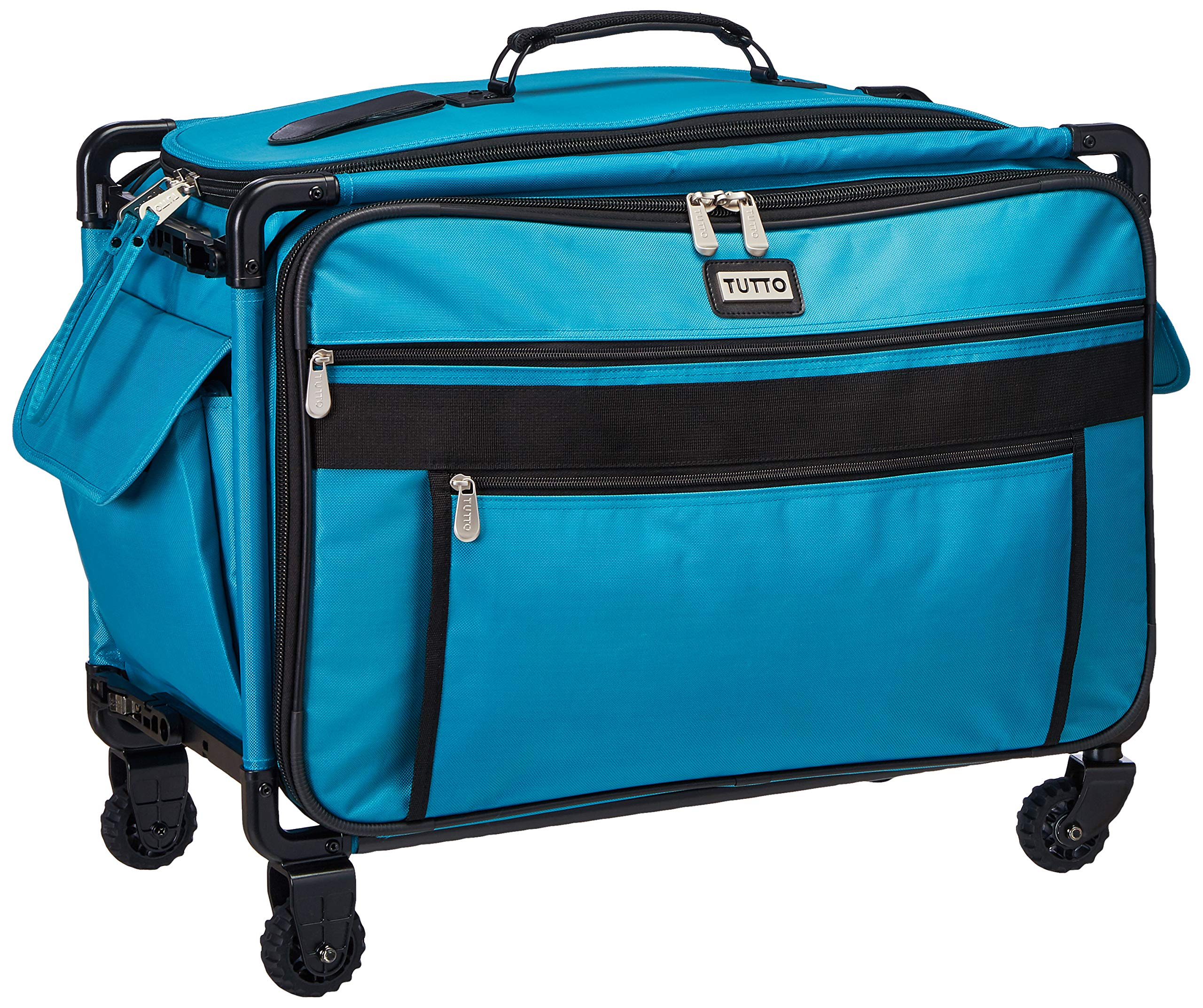 Tutto 9224TMA Turquoise Sewing Machine on Wheels Case, 25 by 18.5 by 13, by Tutto