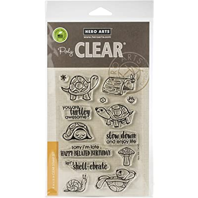 Hero Arts CM345 Clear STMP PET Turtle, us:one Size: Arts, Crafts & Sewing