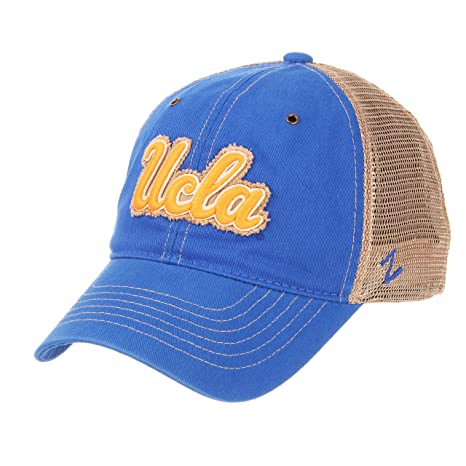 054a12ac0d27a Amazon.com   Zephyr UCLA Bruins California Blue Tatter Vintage Trucker Mesh  Adult Mens Womens Boys Adjustable Baseball Hat Cap   Sports   Outdoors