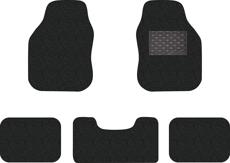 Black /& Red, Front Set 2pcs Nicoman Universal Spaghetti Coiled PVC Vinyl Loop Gecko Backing Anti-Slip Universal Car Floor Mat