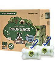 Pogi's Poop Bags - 50 Rolls (750 Bags) +2 Dispensers - Scented, Earth-Friendly, Leak-Proof Dog Waste Bags
