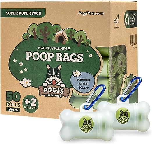 Pogis Poop Bags - Bolsas para excremento de Perro - 50 Rollos ...