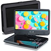"""SUNPIN Portable DVD Player 12.5"""" for Car and Kids, 10.1 inch Eyesight Protective HD Swivel Screen, Stereo Speakers&Dual…"""