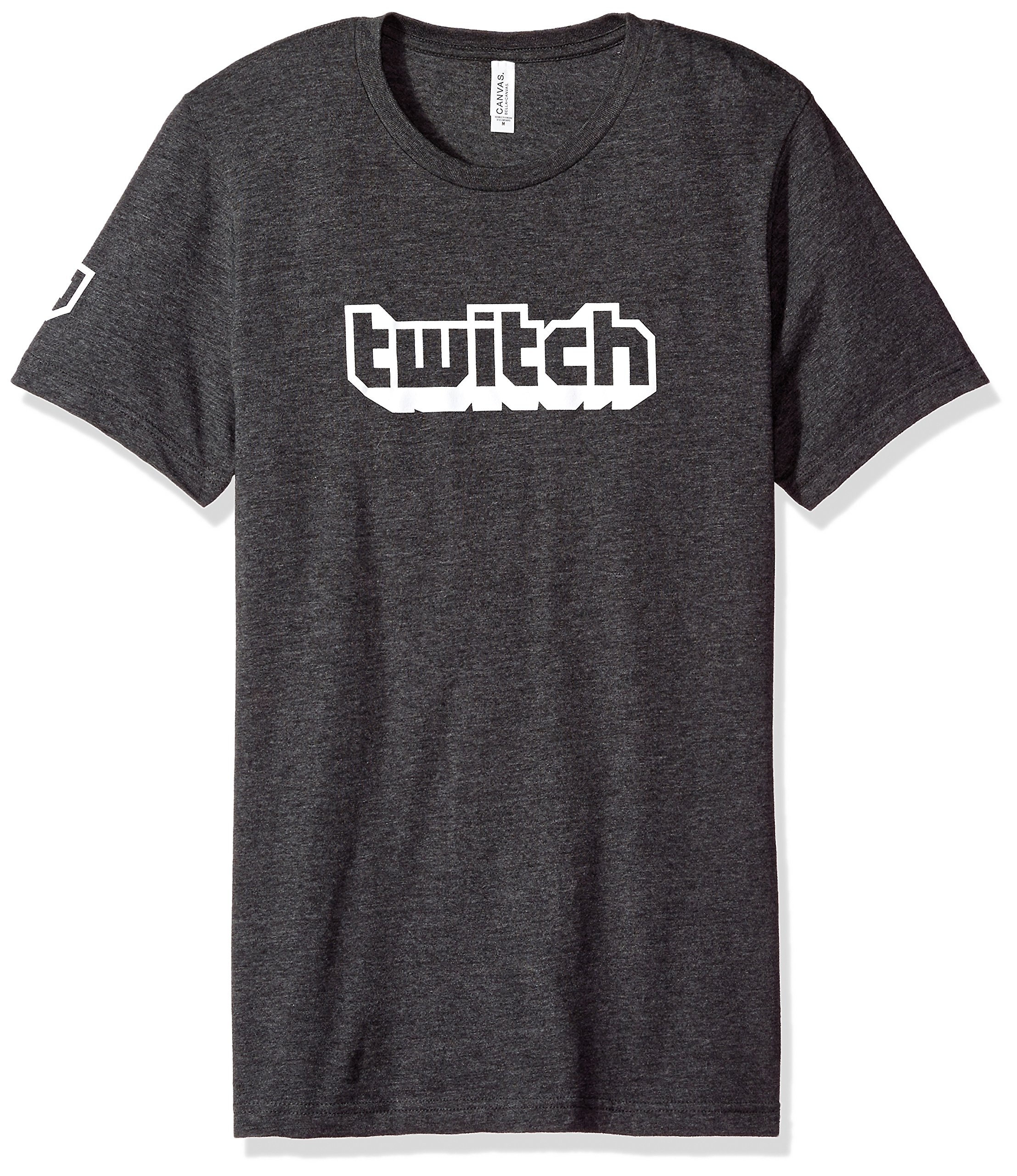 Twitch Logo Men's Tee S/S Crew (Large, Charcoal)