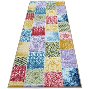 teppichlaufer laviano patchwork muster im vintage look viele grossen moderner teppich laufer fur