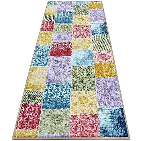 Teppichläufer Laviano | Patchwork Muster im Vintage Look | viele ...