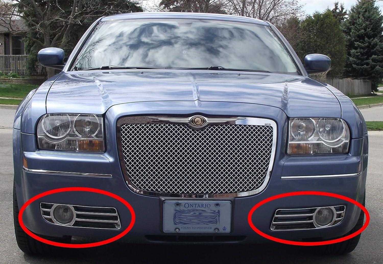 2005 chrysler 300 interior. amazoncom 20052010 chrysler 300 chrome fog light cover trim molding automotive 2005 interior