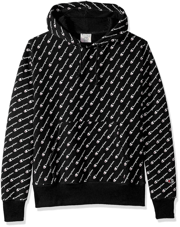 53a80841e52 Amazon.com  Champion LIFE Men s Reverse Weave Pullover Hood-Print  Clothing