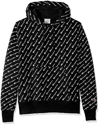 d6482ed2a0c Amazon.com  Champion LIFE Men s Reverse Weave Pullover Hood-Print ...