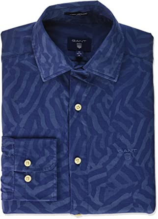 Slim Fit Star Jacquard Shirt - Classic Blue GANT Buy Online New Outlet Locations Cheap Online Buy Cheap Shop Offer Free Shipping With Mastercard Outlet Popular P61Ws