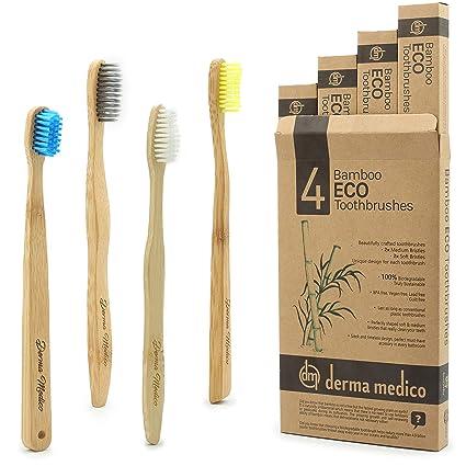Bambú Eco – Cepillo de dientes, 4 DIFFRENT formas