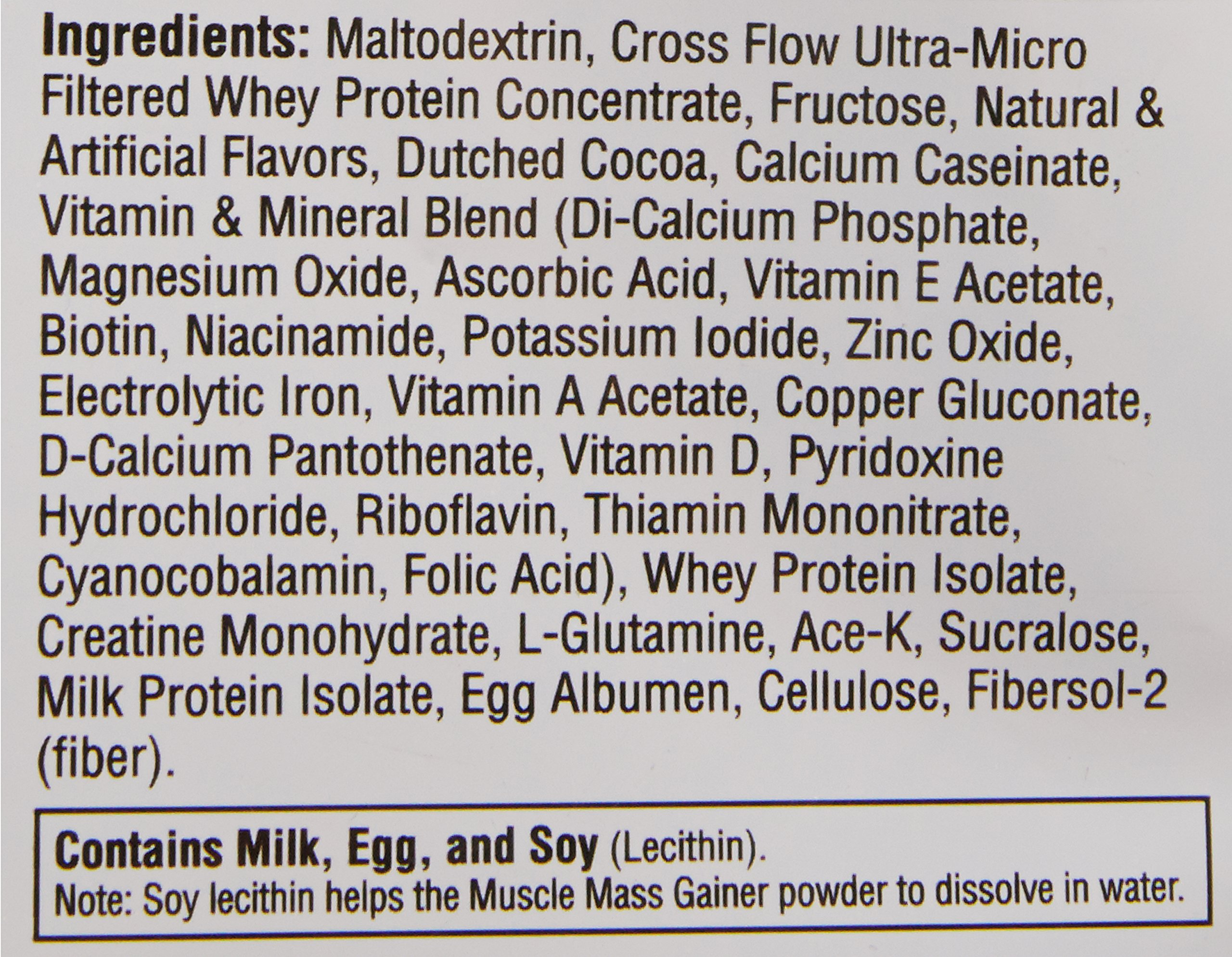 Labrada Nutrition Muscle Mass Gainer, Chocolate, 12 Pound by Labrada (Image #3)