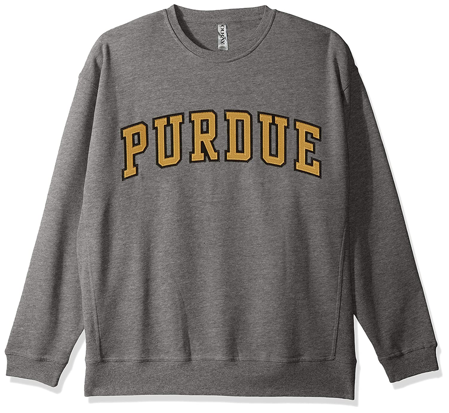 Premium Heather Large Ouray Sportswear NCAA Purdue Boilermakers Mens Legacy DLX Crew Sweatshirt