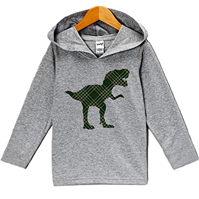 7 ate 9 Apparel Plaid Dinosaur ST Patrick's Day Hoodie Pullover
