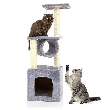 Árbol de actividades para gatos Cozy Pet Deluxe, centro de actividades, rascador con sisal