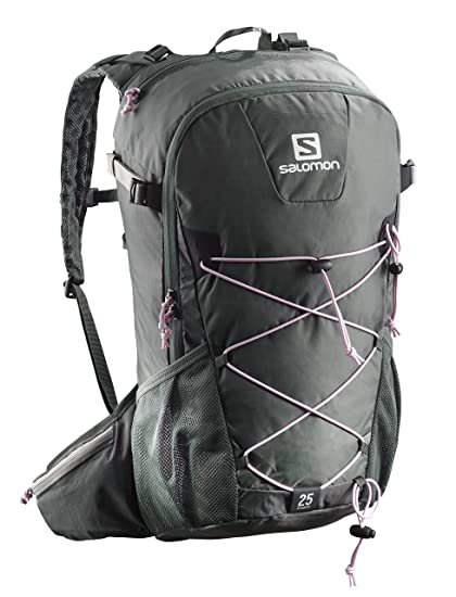 Salomon 25 l Mochila de excursionismo, evasion 25, gris oscuro y rosa