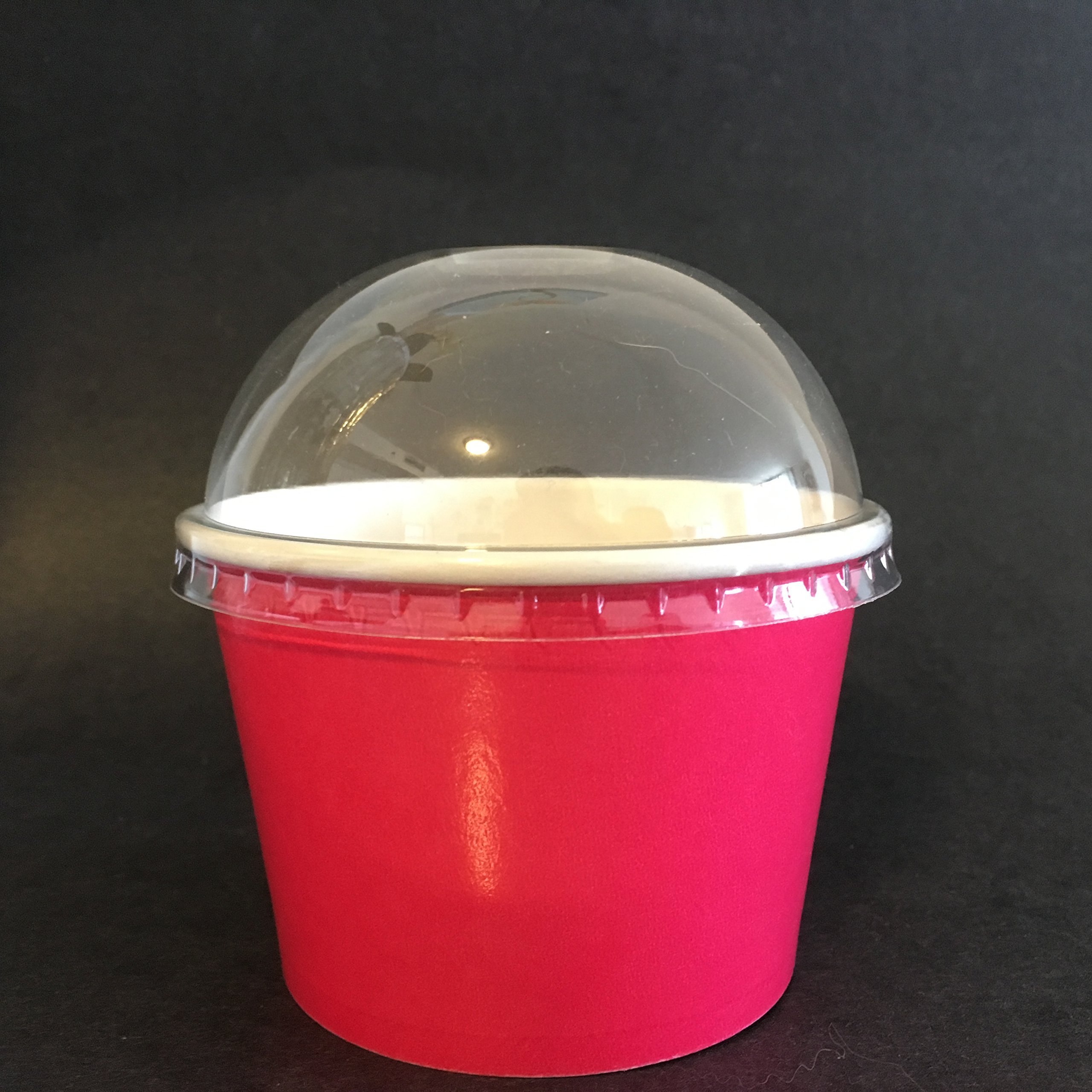 ICE CREAM PAPER CUPS WITH DOME 8 OZ (1000) by HOME OF GELATO