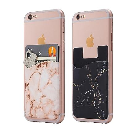 Amazon.com: Cardly (Two) mármol teléfono celular pegar en la ...