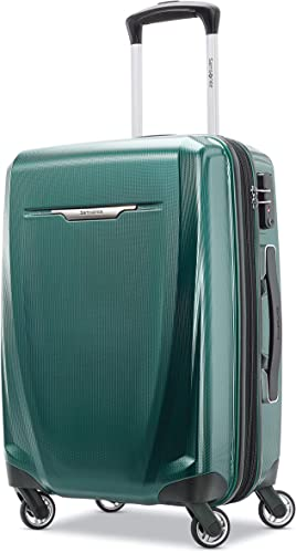 Samsonite Winfield 3 DLX Hardside Expandable Luggage with Spinners, Emerald