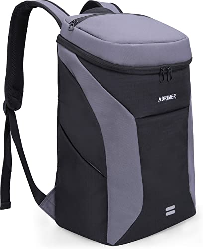 ADRIMER Cooler Backpack Insulated Waterproof, Lunch Backpack Cooler Leakproof for Women Men to Beach Hiking Camping Travel, 30 Cans