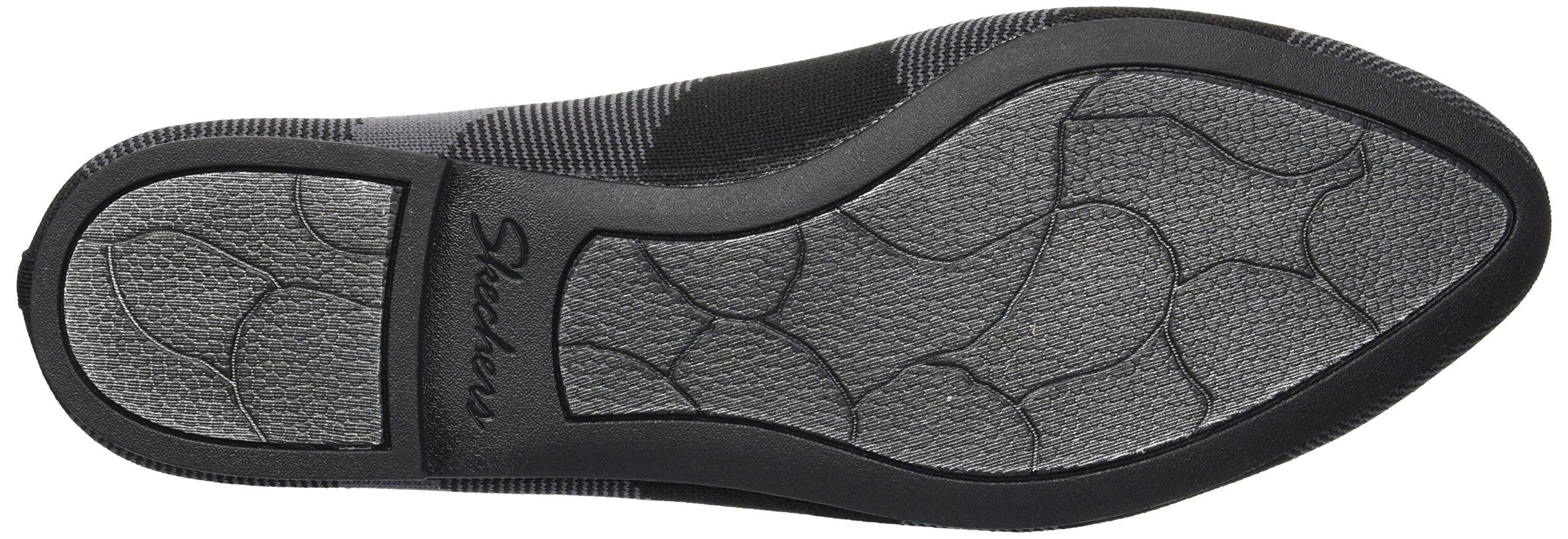 Skechers Women's Cleo-Sherlock-Engineered Knit Loafer Skimmer Ballet Flat, Black, 6.5 M US by Skechers (Image #3)
