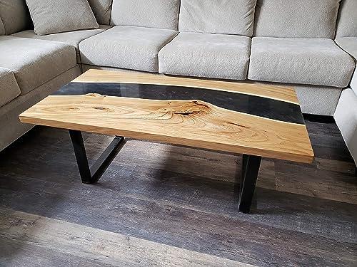 Live Edge Walnut Epoxy Coffee Table Amazon Ca Handmade
