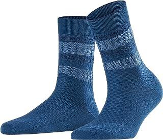 Falk Folk Japan Chaussette Femme, Bleu, FR : S (Taille Fabricant : 37-38)