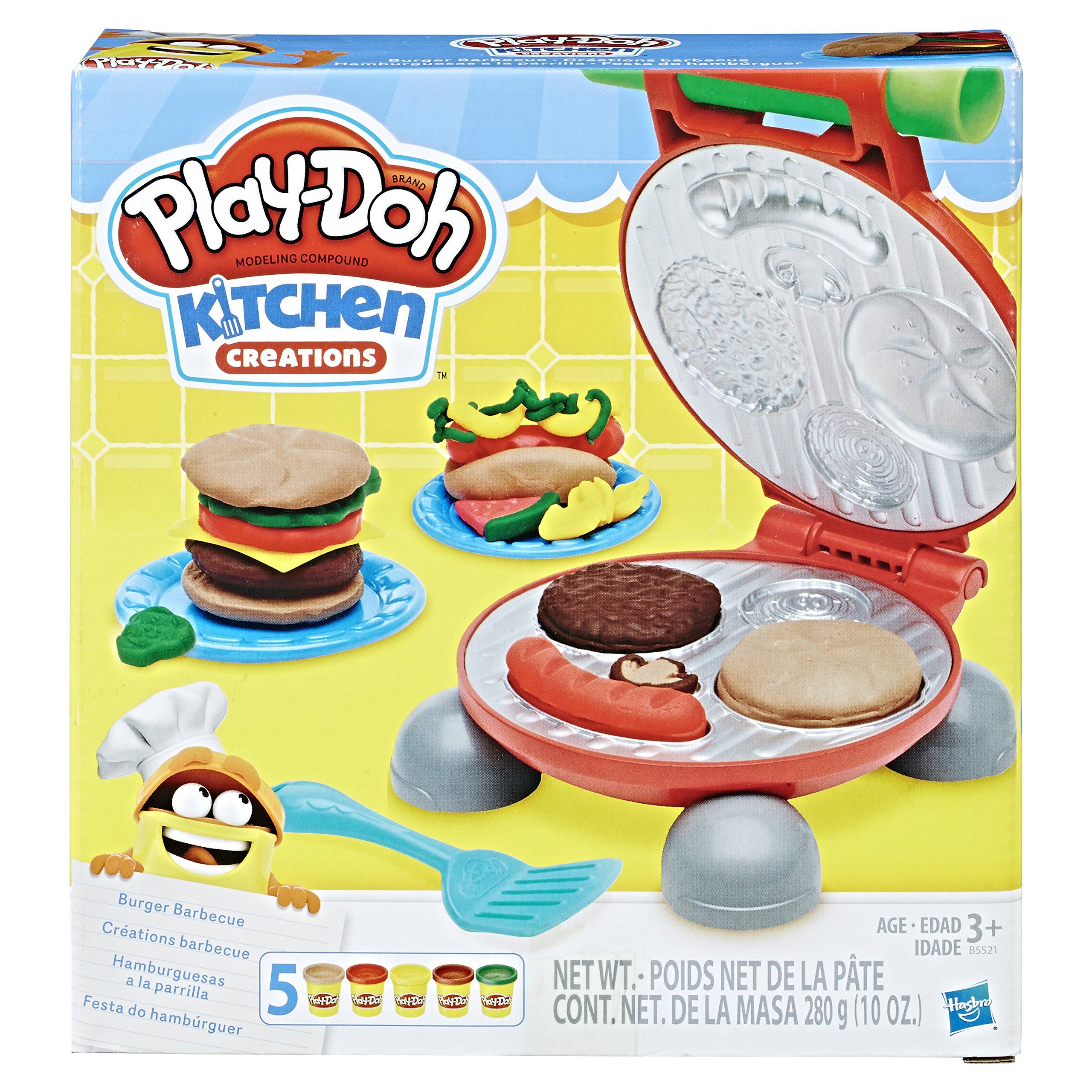 Play Doh Burger Barbecue Set Small Playset Playdough Toys Kids Fun